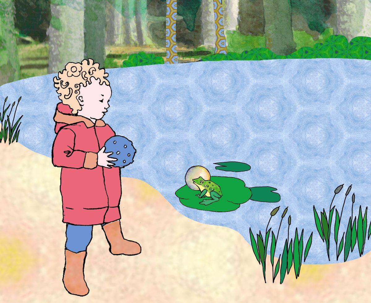 Amélie in het bos 3 – kikker